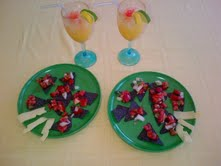 Salsa and Tropical Drinks for kids